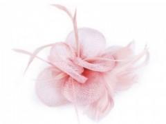 Bross virág gyöngyökkel - Rózsaszín