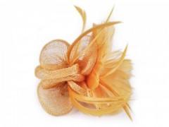 Bross virág gyöngyökkel - Mustár