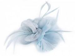 Bross virág gyöngyökkel - Világoskék