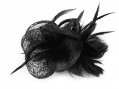 Bross virág gyöngyökkel - Fekete