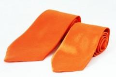 Szatén apa-fia nyakkendő szett - Narancssárga Apa-fia szett