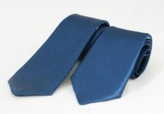 Szatén apa-fia nyakkendő szett - Kék Apa-fia szett
