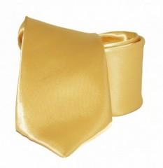 Hosszított szatén nyakkendő - Arany Hosszított