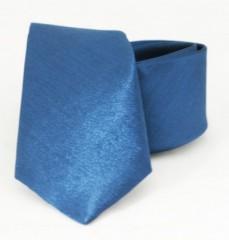 Hosszított szatén nyakkendő - Kék Hosszított
