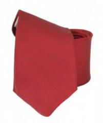 Hosszított szatén nyakkendő - Meggybordó Hosszított