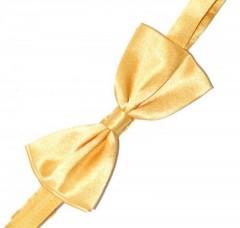 Gyerek szatén csokornyakkendő - Aranysárga Csokornyakkendő