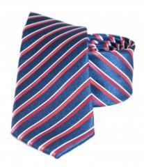 Goldenland slim nyakkendő - Piros-kék csíkos