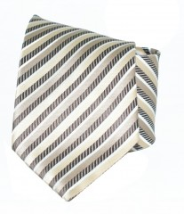 Classic prémium nyakkendő - Drapp-barna csíkos
