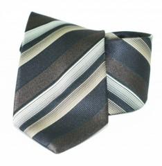 Classic prémium nyakkendő - Barna-fekete csíkos