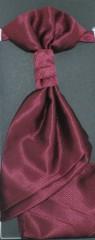 Francia nyakkendő,díszzsebkendővel - Bordó mintás