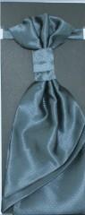 Francia nyakkendő,díszzsebkendővel - Grafit mintás
