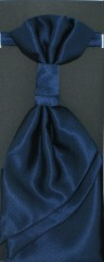 Francia nyakkendő,díszzsebkendővel - Sötétkék