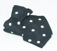 Gumis gyereknyakkendő - Fekete pöttyös Gyerek nyakkendők