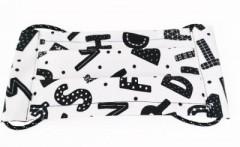 Pamut bélelt arcmaszk - Betűmintás (Magyar termék)