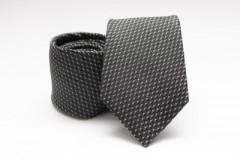 Prémium selyem nyakkendő - Sötétszürke mintás Selyem nyakkendők