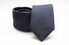 Prémium selyem nyakkendő - Kék pöttyös