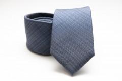 Prémium selyem nyakkendő - Szürkéskék Selyem nyakkendők