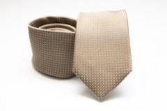 Prémium selyem nyakkendő - Arany pöttyös