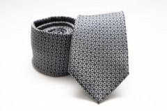 Prémium selyem nyakkendő - Szürke mintás Selyem nyakkendők
