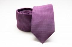 Prémium selyem nyakkendő - Lila kockás