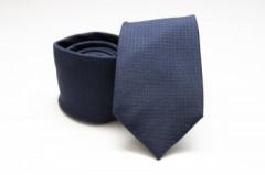 Prémium selyem nyakkendő - Kék kockás