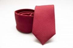 Prémium selyem nyakkendő - Piros Egyszínű