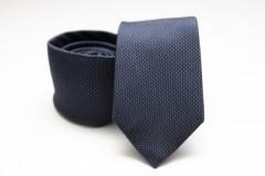 Prémium selyem nyakkendő - Sötétkék pöttyös Selyem nyakkendők