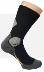 Komfort Munkás pamut zokni - Fekete-szürke Férfi zokni, pizsama