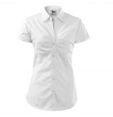 Női puplin ing rövidujjú - Fehér
