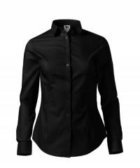 Női puplin ing hosszúujjú - Fekete