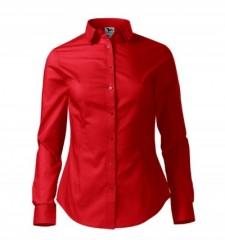 Női puplin ing hosszúujjú - Piros