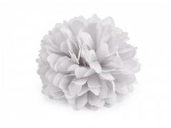 Virág kitűző - Halványszürke