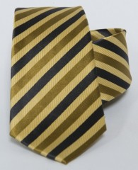 Prémium selyem nyakkendő - Sárga-fekete csíkos