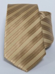 Prémium selyem nyakkendő - Arany csíkos