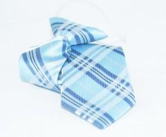 Gumis gyereknyakkendő -  (mini)Kék kockás Gyerek nyakkendők
