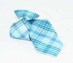 Gumis gyereknyakkendő - (mini) Kék kockás Gyerek nyakkendők