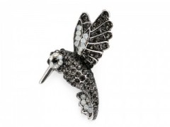 Bross kolibri csiszolt kövekkel