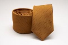 Prémium slim nyakkendő - Mustár pöttyös Aprómintás nyakkendő