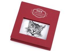 Ajándék zsebkendő szett  díszdobozban - Macska Pamut zsebkendő