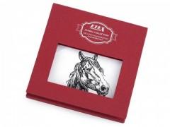 Ajándék zsebkendő szett  díszdobozban - Ló Pamut zsebkendő