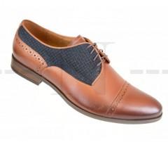 Carlo Benetti bőr cipő - Barna - Kék Férfi bőr cipők