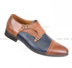 Carlo Benetti bőr cipő - Barna-kék Férfi bőr cipők
