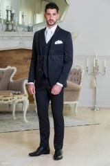 Carlo Benetti Esküvői öltöny+mellény szett 5 részes - Fekete-fehér Öltönyök, Zakók