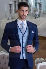 Carlo Benetti Esküvői öltöny+mellény szett 5 részes - Sötétkék Öltönyök, Zakók