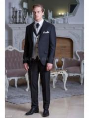 Carlo Benetti Esküvői öltöny+mellény szett 5 részes - Fekete Öltönyök, Zakók