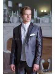Carlo Benetti Esküvői öltöny+mellény szett 5 részes - Középszürke Öltönyök, Zakók