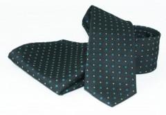 Goldenland nyakkendő szett - Fekete-türkíz pöttyös Szettek