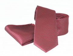Goldenland nyakkendő szett - Meggybordó aprómintás Szettek