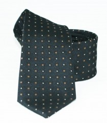 Goldenland slim nyakkendő - Fekete aprómintás Aprómintás nyakkendő
