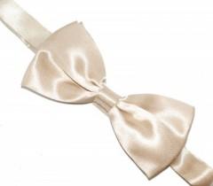 Zsorzsett szatén csokornyakkendő - Ecru